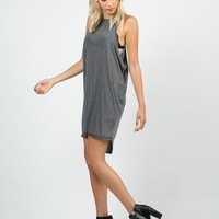 Ribbed Knitted Open Sides Dress