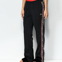 Champion Black & Red Taping Track Pants | Zumiez