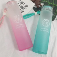 New kpop EXO LAY CHEN BAEKHYUN The Same gradient frosted glass freshness cup