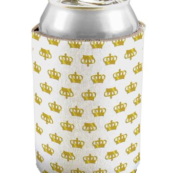 Gold Crowns AOP Can / Bottle Insulator Coolers All Over Print by TooLoud