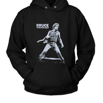 ICIK7H3 Bruce Springsteen Hoodie Two Sided