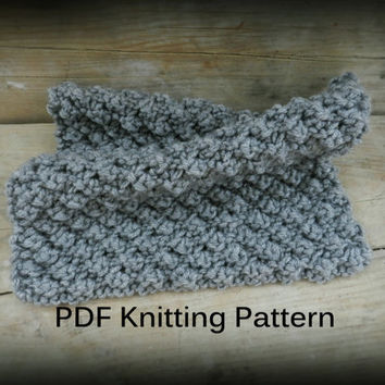 PDF Knitting Pattern, Easy knit blanket Gray Knit Baby Blanket Pattern Knit a Chunky Baby Blanket Easy Knitting Pattern Instant PDF Download
