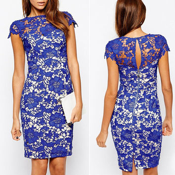Padded Lace Bodycon Dress