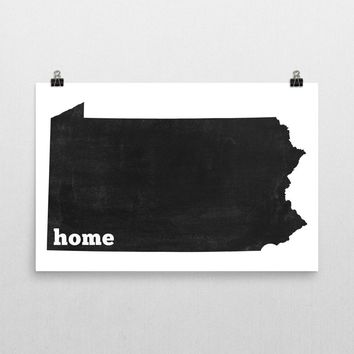 Pennsylvania Home State Map Art