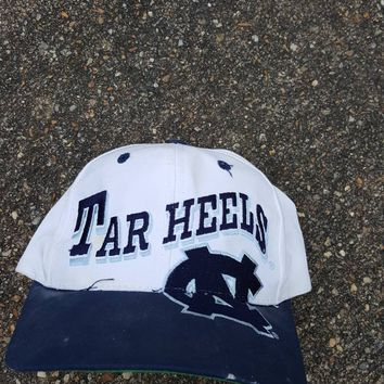 Vtg Big Logo UNC North Carolina University tarHeels  the game snapback hat