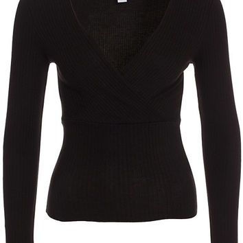 Simple V Neck Rib Top, NLY Trend