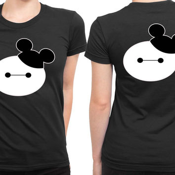 Baymax Mouse Disney 2 Sided Womens T Shirt
