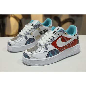 Supreme x Kaws x Bape x Nike Air Force 1 Low AF1 Customize Graff afa6b5bf3f48