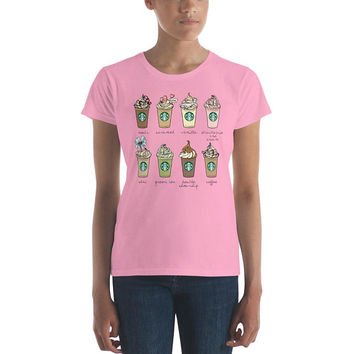 Women's short sleeve Starbucks coffee frappuccino t-shirt