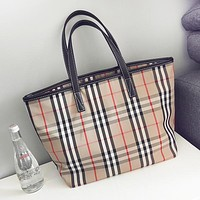 Burberry New fashion plaid shoulder bag women handbag Khaki