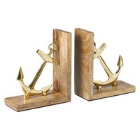 Threshold™ Anchor Bookends - Gold