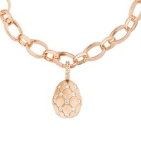 TREILLAGE DIAMOND ROSE GOLD MATT CHARM | FABERGÉ.com