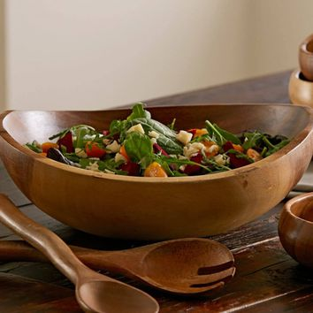 Acacia Wood Salad Serving Collection | VivaTerra