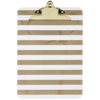 Gold Stripes Patterned Clipboard | Hobby Lobby | 1210830