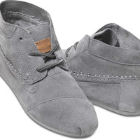 GREY SUEDE WOMEN'S TRIBAL BOOTS