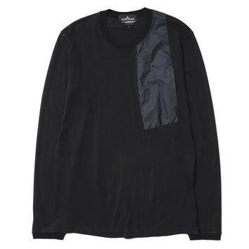 Catch Pocket LS T-Shirt_Interlock Mako Nero