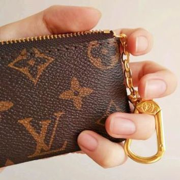 DCCKB62 Louis Vuitton Monogram Canvas Key Pouch M62650 For Women Girl