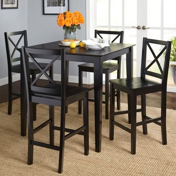 Simple Living Cross Back Counter Height 5-piece Table and Chair Set | Overstock.com Shopping - The Best Deals on Dining Sets