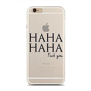 Clear Snap-On case for iPhone 5C - Haha Haha Fuck You (C) Andre Gift Shop