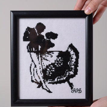 Handmade cross stitch Picture Eco friendly Home decoration designer Gift ideas