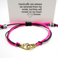 BDSM Bracelet, Choose colors, Handcuff Bracelet, Boyfriend Girlfriend Jewelry