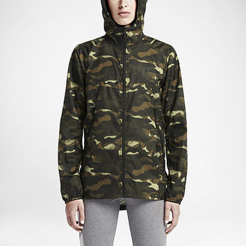 The Nike T/F Camo Windrunner Women's Jacket.