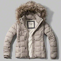 A&F Hooded Puffer Jacket