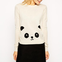 Panda Knitted Pullover Sweater