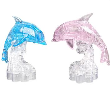 Crystal Dolphin 3D Puzzle