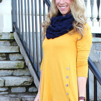 Make it a Great Day Mustard Button Top