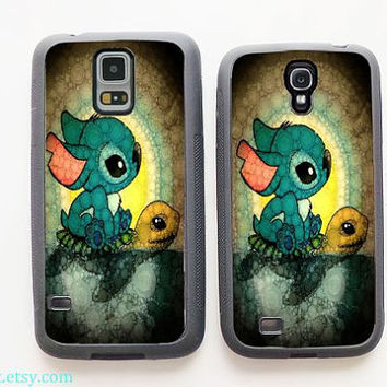 Lilo and Stitch,Stitch and Turtle Samsung Galaxy S5 Case, Samsung Galaxy S4 Case,Samsung Galaxy Case,Cover Skin,Samsung Galaxy s3 case