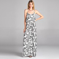 Pineapple Racerback Maxi Dress