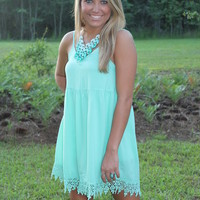 Bangles Boutique — PALE MINT ROMPER WITH BACK ZIPPER, ADJUSTABLE SHOULDER STRAP AND LINING