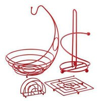 Pl 4pc Kitchen Set Red