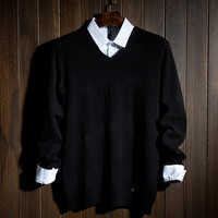 Fashion Business Mens Comfortable V Neck Sweater