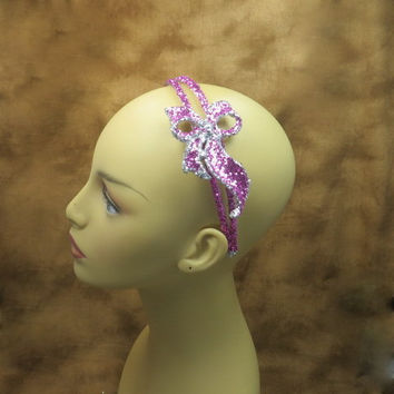 Headbands - Hot Pink Headband - Pink - Hair Accessories - Pink And Silver Wedding - Flower Girl Headband