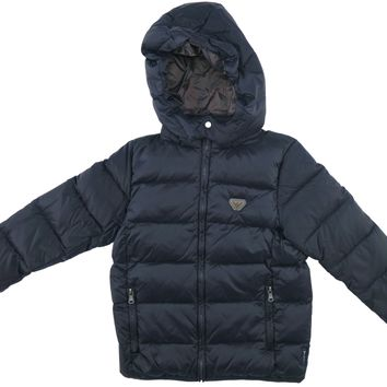Armani Boys Navy Puffer Jacket