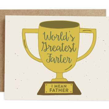 Rhubarb Paper Co. - Greatest Farter Father's Day Card