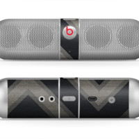 The Two-Toned Dark Black Wide Chevron Pattern Skin for the Beats by Dre Pill Bluetooth Speaker