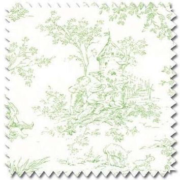 Baby Toile-Green Fabric By The Yard | 100% Cotton