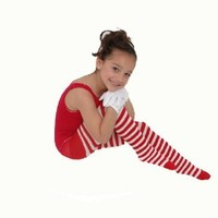 Kid's White Striped Tights in 22 Color Combos and 4 sizes!