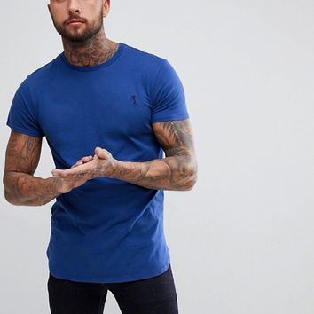 Religion Longline T-Shirt In Royal Blue at asos.com