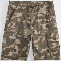 Subculture Mens Ripstop Cargo Shorts Camo Green  In Sizes