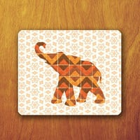 Elephant Geomatric Mouse PAD Orange Pattern Mousepad Abstract Flower Mat Office Deco Desk Word Pad Personalized Pad Gift Personalized mat