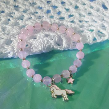 Star Gazing Unicorn Elastic Bracelet
