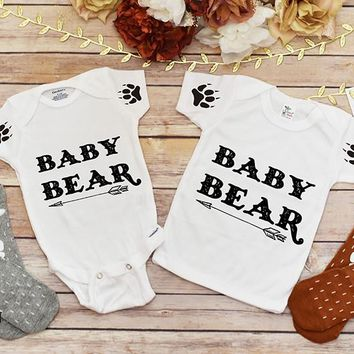 Baby Bear with Paws Shirt or Onesuit