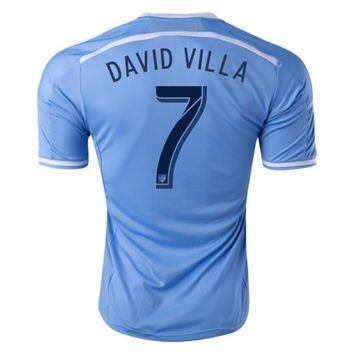 New York City David Villa 7 Home Soccer Jersey 2016/17