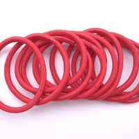 Good quality-- 50 pcs red hair elastics, ponytail elastics,ponytail holders,pigtail holders