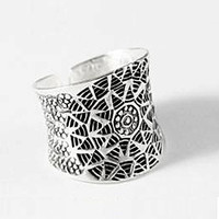 Silver Boho Rings - boho chic jewelry, mandala sun ring, ethnic ring, tribal silver ring, bohemian silver ring, cheap boho jewelry, Handmade