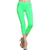 Capri Leggings, Neon Green